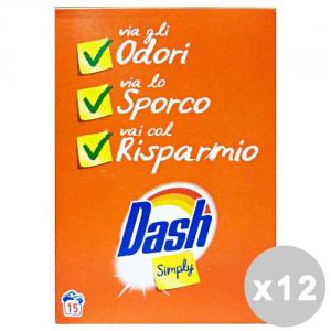 DASH Set  12 Simply Lavatrice Polvere 18 Misurini Detergenti Casa
