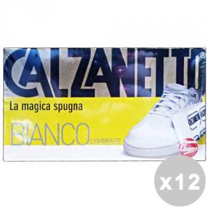 CALZANETTO Set 12 CALZANETTO Bianco coprente in spugna - linea scarpe