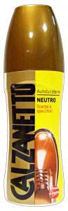 CALZANETTO Autolucidante Neutro 75 Ml Prodotto Per Scarpe E Calzature