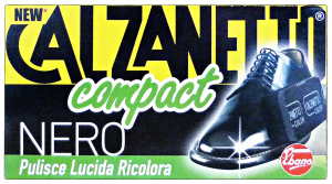 CALZANETTO Compact nero + autolucidante in spugna - linea scarpe