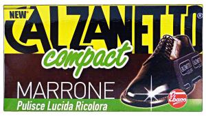 CALZANETTO Marrone + autolucidante in spugna - Scarpe pulizie