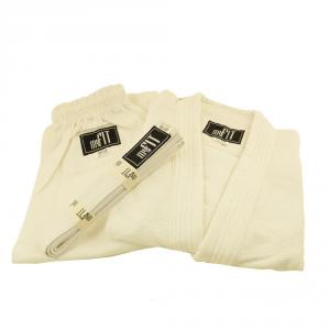 MYFIT Completo karate junior 120 cm 100% cotone bianco MA-02-120