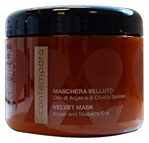 CONTEMPORA Maschera velluto argan vaso 500 ml. - articoli per capelli