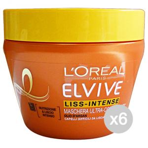 Set 6 ELVIVE Maschera Liss-Intense 300 Ml Prodotto Per Capelli