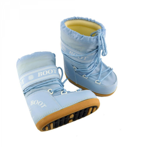 MYSNOW Doposci Boot Junior Azzurro (Taglie 26-27-28) Neve Caldi Comodi Imbottiti