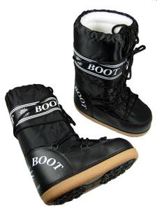 MYSNOW Doposci Boot Junior Nero (Taglie 29-30-31) Neve Caldi Comodi Imbottiti