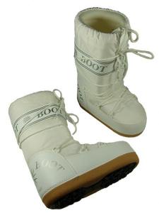 MYSNOW Doposci Boot Junior Bianco (Taglie 32-33-34) Neve Caldi Comodi Imbottiti