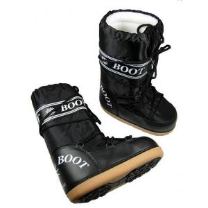 MYSNOW Doposci Boot Donna Nero (Taglie 35-36-37) Neve Caldi Comodi Imbottiti