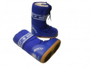 MYSNOW Doposci Boot Junior Blu (Taglie 26-27-28) Neve Caldi Comodi Imbottiti