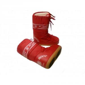 MYSNOW Doposci Boot Junior Rosso (Taglie 29-30-31) Neve Caldi Comodi Imbottiti