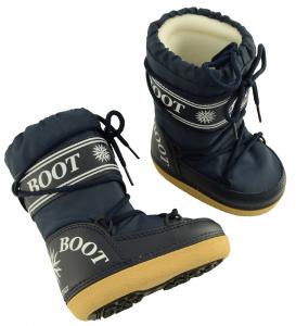 MYSNOW Doposci Boot Junior Blu (Taglie 32-33-34) Neve Caldi Comodi Imbottiti
