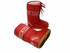 MYSNOW Doposci Boot Junior Rosso (Taglie 32-33-34) Neve Caldi Comodi Imbottiti