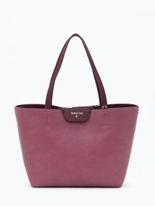 Borsa Shopping donna reversibile Patrizia Pepe Bordeaux/Rosa