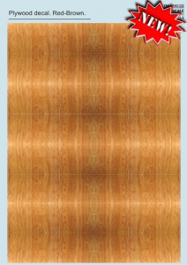 Plywood Decal Red-Brown Part 2