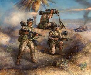 US M-47 Dragon Anti Tank Laucher with Crew