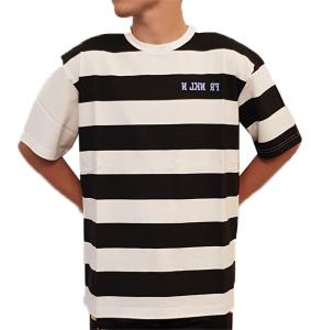T-shirt righe in cotone Sfera Ebbasta