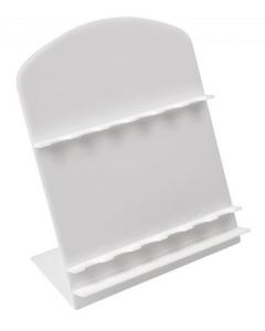 Espositore bianco per 6 penne cm.16,8x12x18h