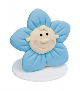 Fiore azzurro Bimbo cm.4,7x4,2x4,5h