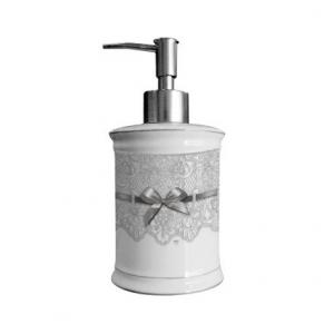 Dosatore sapone, Linea Dentelle di Mathilde M. in ceramica