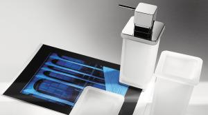 Dispenser dosa sapone appoggio per il bagno serie Lulu Colombo design