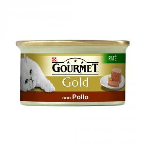 'PURINA Gold Patè Con Pollo Umido Gatto Gr. 85 Mangimi Umidi Per Gatti'