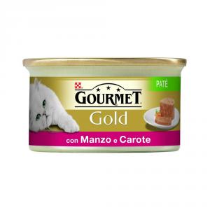 'PURINA Gold Patè Con Manzo E Carote Umido Gatto Gr. 85 Mangimi Umidi Per Gatti'