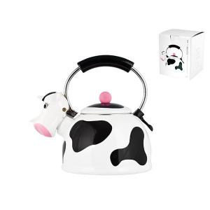 'H&H Bollitore Smalto Cow Lt2,5 Pentole E Preparazione Cuci - Offerta Speciale!'