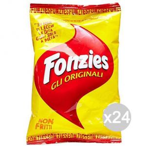 'Set 24 FONZIES Patatine Originali Gr100 117439 Snack E Merenda Salata'