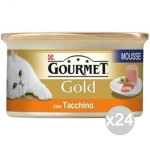 'Set 24 PURINA Gourmet Gold Mousse Tacchino Gr 85 Cibo Per Gatti'