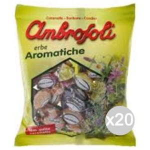 'Set 20 AMBROSOLI Caramelle Balsam Erbe Gr 150 Arom Dolci E Alimentari'