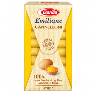 BARILLA Emiliane Cannelloni All'Uovo 250 Grammi Pasta Made In Italy