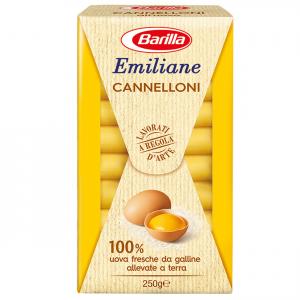 BARILLA Emiliane Cannelloni All'Uovo 250 Grammi Pasta Made In Italy