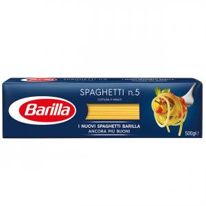BARILLA I Classici Spaghetti N.5 500 Grammi Pasta Made In Italy