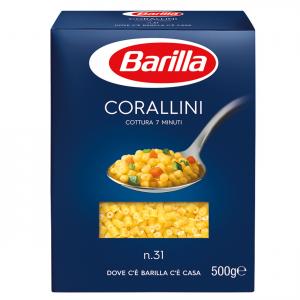 BARILLA I Classici Corallini N. 31 Cottura 8 Minuti 500 Grammi Pasta Made In Italy