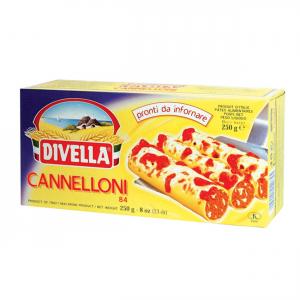 DIVELLA Cannelloni Da 250 Grammi Pronti Da Infornare Pasta Made In Italy