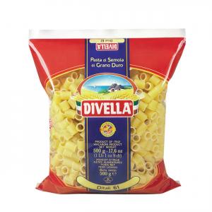 DIVELLA Ditali 61 Cottura 9 Minuti Da 500 Grammi Pasta Made In Italy