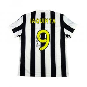 2009 Juventus Maglia Home Match Worn #9 Iaquinta Peace Cup Autografata XL