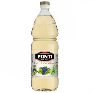 PONTI Aceto Di Vino Classico Bianco Acidità 6% Bottiglia Da 1 Litro Condimento