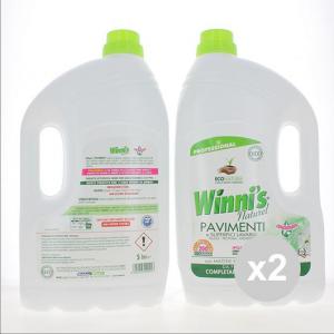 Set 2 WINNI'S Winni S Pavimenti 5Lt Detergenti Per Pavimento Pulizia della casa