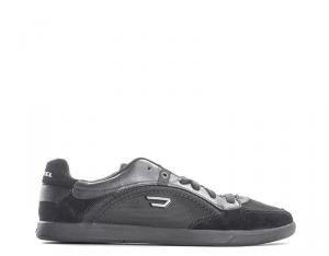 DIESEL Sneakers trendy uomo nero/antracite con tomaia in pelle