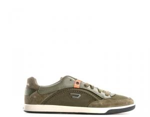 DIESEL Sneakers trendy uomo oliva con tomaia in pelle Scarpe e Calzature