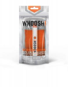 WHOOSH Schermo Shine Spray Tascabile 8 ml & W! panno microfibra antibatterica