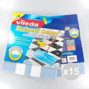Set 15 VILEDA Pavimenti Cotone&Microfibra Detergenti Per Pavimento in vendita online