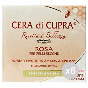 Set 6 CUPRA Crema Vaso Rosa Pelli Secche 100 Ml Cura Del Viso