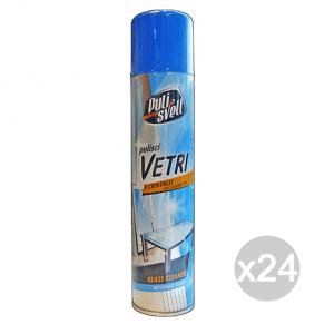 Set 24 PULISVELT Vetri/Cristalli Spray 300 Ml Pulizia Della Casa