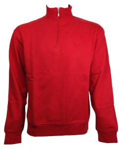 FILA Felpa con collo alto mezza zip sportiva unisex rosso U90825-644