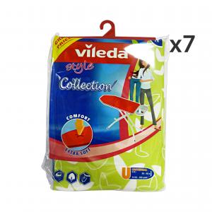 Set 7 VILEDA Telo Per Asse Da Stiro Extra Soft STYLE COLLECTION 142470 Bucato