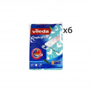 Set 6 VILEDA Telo Per Asse Da Stiro Ultra Soft Comfort Plus 142468 Bucato