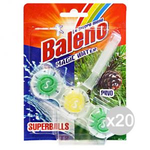 Set 20 BALENO Tavolette Wc Superballs Pino Prodotto Per Gabinetto Bagno