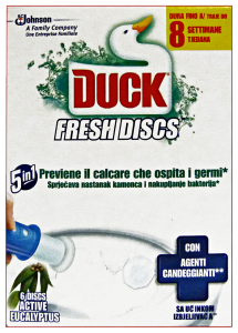 DUCK Fresh tav.wc discs base active eucalyptus - Tavolette WC + portascopini